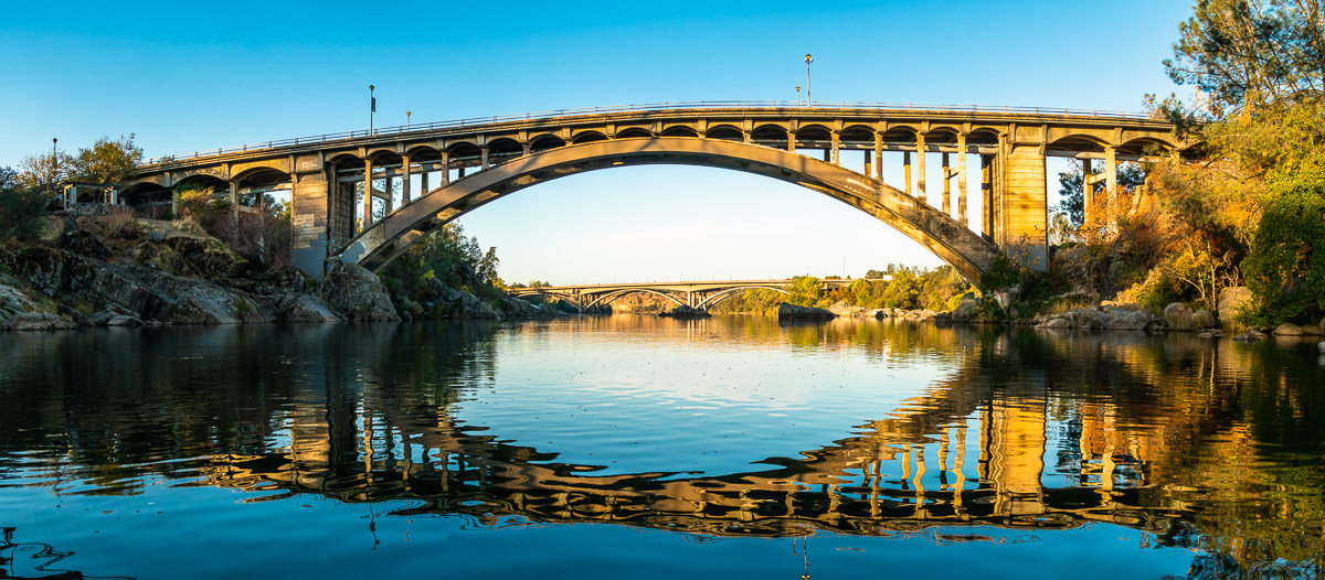 Rainbow Bridge is a historical landmark option out of the greater Sacramento area for an engagement session.